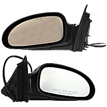 Power Mirror, Driver and Passenger Side, Manual Folding, Non-Heated, w/o Memory, Paintable