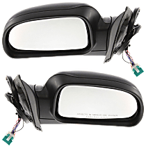 Mirror - Driver and Passenger Side (Pair), Power, Heated, Folding, Paintable, With Turn Signal, Memory