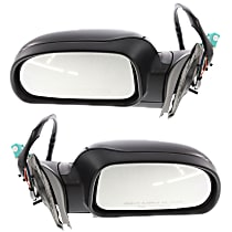 Kool Vue Power Mirror, Driver and Passenger Side, Manual Folding, Heated, w/ Memory and Signal Light, Paintable