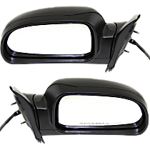 Mirror - Driver and Passenger Side (Pair), Power, Heated, Folding, Textured Black, With Turn Signal (Clear), Memory