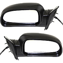 Kool Vue Power Mirror, Driver and Passenger Side, Manual Folding, Heated, w/ Memory and Signal (Clear Lens) Light, Textured Black