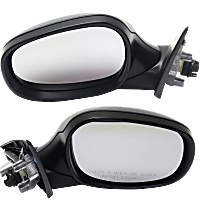 Mirrors - Driver and Passenger Side, Pair, Power, Heated, Manual Folding, Paintable, For Wagon