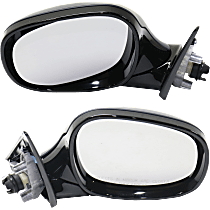 Mirrors - Driver and Passenger Side, Pair, Power, Heated, Manual Folding, Paintable, For Wagon, Models With Shadow Line