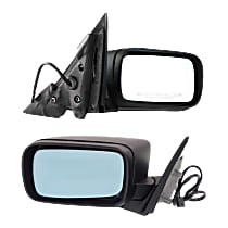 Kool Vue Power Mirror, Driver and Passenger Side, Sedan/Wagon, Manual Folding, Non-Heated, w/o Memory, Paintable