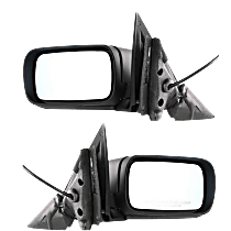 Mirror - Driver and Passenger Side (Pair), Power, Heated, Folding, Paintable, For E46 Sedan or Wagon