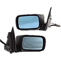 Mirror - Driver and Passenger Side (Pair), Power, Heated, Power Folding, Paintable, For E46 Sedan or Wagon