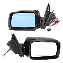 Power Mirror, Driver and Passenger Side, Fits Models w/o Sport Package, Manual Folding, Heated, w/ Memory, w/o Puddle Light, Paintable