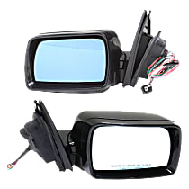 Kool Vue Power Mirror, Driver and Passenger Side, Fits Models w/o Sport Package, Manual Folding, Heated, w/ Memory, w/o Puddle Light, Paintable