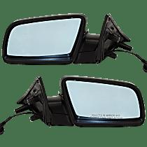 Power Mirror, Driver and Passenger Side, 04-05 Sedan/06-07 Wagon, Manual Folding, Heated, w/ European Blue Glass, Paintable