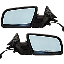 Kool Vue Power Mirror, Driver and Passenger Side, 04-05 Sedan/06-07 Wagon, Manual Folding, Heated, w/ European Blue Glass, Paintable