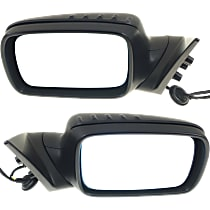 Kool Vue Power Mirror, Driver and Passenger Side, Convertible/Coupe, Power Folding, Heated, w/o Memory, Paintable