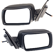 Power Mirror, Driver and Passenger Side, Fits Models With Sport Package, Power Folding, Heated, w/ Memory and Puddle Light, Paintable