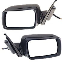 Kool Vue Power Mirror, Driver and Passenger Side, Fits Models With Sport Package, Power Folding, Heated, w/ Memory and Puddle Light, Paintable