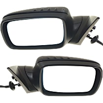 Kool Vue Power Mirror, Driver and Passenger Side, Convertible/Coupe, Power Folding, Heated, w/ Memory, Paintable