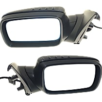 Kool Vue Power Mirror, Driver and Passenger Side, Manual Folding, Heated, w/ Memory, Paintable