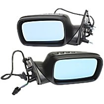 Kool Vue Power Mirror, Driver and Passenger Side, Power Folding, Heated, w/ Memory, Paintable