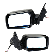 Power Mirror, Driver and Passenger Side, Fits Models w/o Sport Package, To 10-02, Man-Fold, HTD, w/ Memory and Puddle Light, Paintable