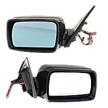 Mirror - Driver and Passenger Side (Pair), Power, Heated, Power Folding, Paintable, w/ Memory, Puddle Lamp, Built From October 2002