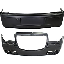 Front and Rear Bumper Cover, Primed - w/ Parking Aid Sensor Holes, 300C Model