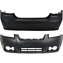 CAPA Certified Front and Rear Bumper Cover, Primed, Sedan