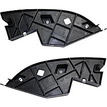 CAPA Certified Front, Driver and Passenger Side, Outer Bumper Filler, Black