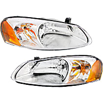 Driver and Passenger Side Halogen Headlight, With Bulb(s) - Sebring (Convertible/Sedan)/Stratus (Sedan)