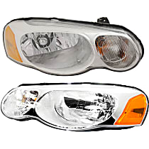 Driver and Passenger Side Halogen Headlight, With Bulb(s) - Convertible/Sedan
