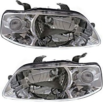 Driver and Passenger Side Halogen Headlight, With Bulb(s) - Hatchback/Sedan Models