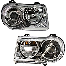 Driver and Passenger Side Halogen Headlight, With Bulb(s) - C Models