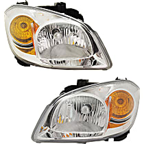 Driver and Passenger Side Headlight, With bulb(s) - With Bracket
