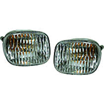 Driver and Passenger Side Turn Signal Light, With bulb(s)