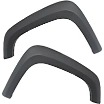 Front, Driver and Passenger Side Fender Flares, Gray