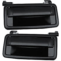 Exterior Door Handle, Smooth Black Front or Rear, Driver and Passenger Side