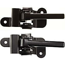 Front, Driver and Passenger Side Interior Door Handle, Smooth Black