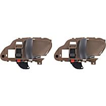 Front and Rear, Passenger Side Interior Door Handle, Beige bezel with primed lever