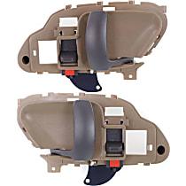 Interior Door Handle, Beige bezel with primed lever Front, Driver and Passenger Side
