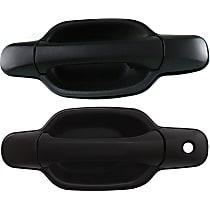 Front, Driver and Passenger Side Exterior Door Handle, Textured Black