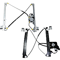 Front and Rear, Passenger Side Power Window Regulator, With Motor, Crew Cab
