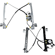 Front and Rear, Driver Side Power Window Regulator, With Motor - Crew Cab