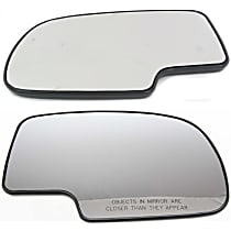 Mirror Glass - Driver and Passenger Side, Non-Heated, Without Turn Signal Light, With Backer Plate