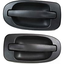 Rear, Driver and Passenger Side Exterior Door Handle, Black