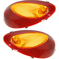 Driver and Passenger Side Tail Light, With bulb(s) - Amber & Red Lens