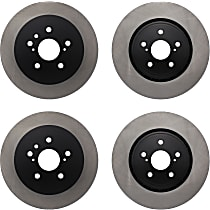 Centric Premium Front And Rear, Driver And Passenger Side Brake Disc