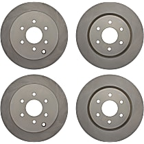 Centric C-Tek Front And Rear, Driver And Passenger Side Brake Disc