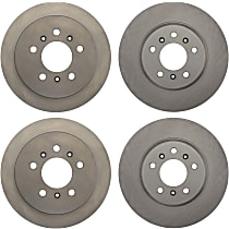Front And Rear, Driver And Passenger Side Brake Disc