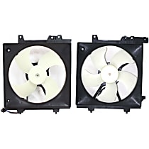 A/C Condenser and Radiator Fan Assembly - Driver and Passenger Side, 2.5L Engine