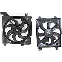 A/C Condenser and Radiator Fan Assembly - Driver and Passenger Side