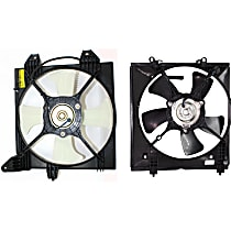 A/C Condenser and Radiator Fan Assembly - Driver and Passenger Side, Non-Turbo, 2.0L Engine