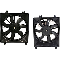 A/C Condenser and Radiator Fan Assembly - Driver and Passenger Side, 2.7/3.3L Engine, Without Tow Package