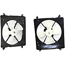 A/C Condenser and Radiator Fan Assembly - Driver and Passenger Side, 2.2L 4 Cyl. Engine